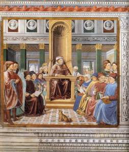 St. Augustine teaching in Rome.