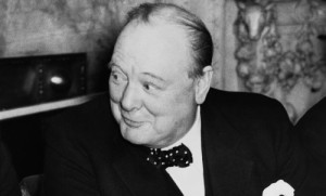 Winston Churchill, 1940.